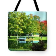 Tranquil Landscape At A Lake 4 Tote Bag