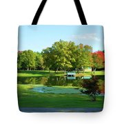 Tranquil Landscape At A Lake 5 Tote Bag
