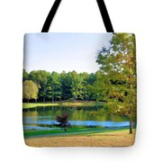 Tranquil Landscape At A Lake 6 Tote Bag