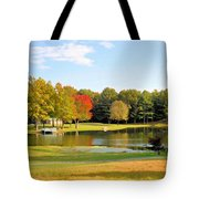 Tranquil Landscape At A Lake 7 Tote Bag