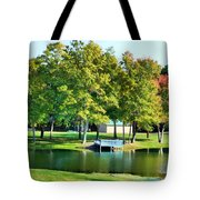 Tranquil Landscape At A Lake 8 Tote Bag