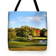 Tranquil Landscape At A Lake 9 Tote Bag