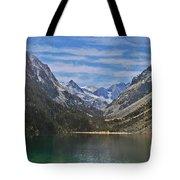 Tranquil Mountain Lake Tote Bag