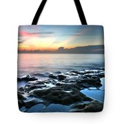 Tranquil Sunrise At Coral Cove Beach Tote Bag