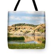 Tranquil Willow Lake Tote Bag
