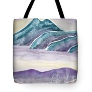 Tranquility Landscape Mountain Surreal Modern Fine Art Print Tote Bag