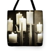Tranquility Of Candlelight Tote Bag