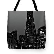 Trans American Building At Night Tote Bag