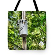 Transformer And Power Lines Tote Bag
