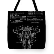 Transformers Patent - Black And White Tote Bag