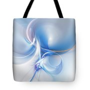 Transparent Flower Tote Bag