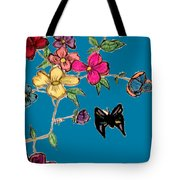 Transparent Flowers And Butterflies In Color Tote Bag