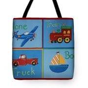 Transportation Modes Tote Bag