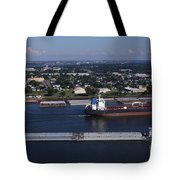 Transportation - Shipping On The Mississippi River Tote Bag