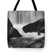 Trap Falls In Ashby Ma Black And White 6 Tote Bag