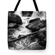 Trap Falls In Ashby Ma Black And White 9 Tote Bag