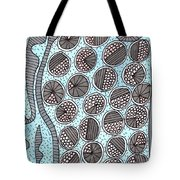 Trapped Circles Pattern  Tote Bag