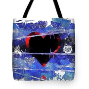 Trapped Heart Tote Bag