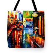 Trapped Inside Blue Rain Tote Bag