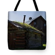 Trappers Cabin Clydesdale Barn Tote Bag