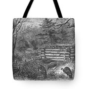 Trapping Wild Turkeys, 1868 Tote Bag