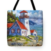 Traps And Lighthouse Tote Bag