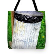Trash Can Abstract. Tote Bag