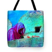 Travel Exotic Woman On Ramparts Mehrangarh Fort India Rajasthan 1e Tote Bag