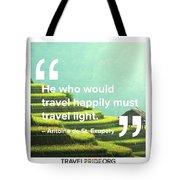 Travel Happy Tote Bag