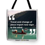 Travel Imparts New Vigor Tote Bag