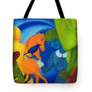 Travel In The Undefined Time. Tote Bag