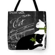 Travel With Your Cat Tote Bag