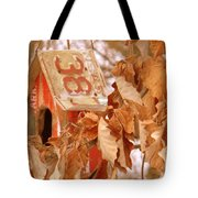 Traveling Bird House Tote Bag