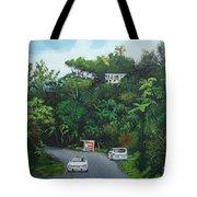 Traveling In Adjuntas Mountains Tote Bag