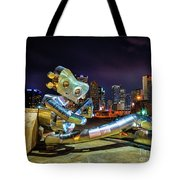 Traveling Man Takes A Break Tote Bag