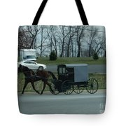 Travelling Into Town Tote Bag