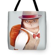 Travelling Owl Tote Bag