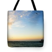 Travels At Sunset Tote Bag
