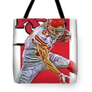 Travis Kelce Kansas City Chiefs Oil Art Tote Bag