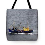 Trawling Off The Dingle Peninsula In Ireland Tote Bag