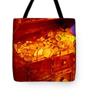 Treasure Chest With Gold Coins Tote Bag