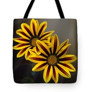 Treasure Flowers With Light Flares Tote Bag