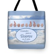 Treasures In Heaven Spanish Tote Bag