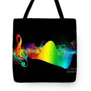 Treble Clef In Motion Tote Bag