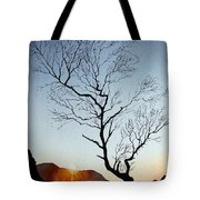 Tree Above Crummock Water Tote Bag