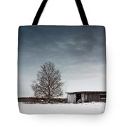 Tree And A Barn Tote Bag