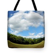Tree And Blue Sky Tote Bag