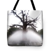 Tree And Fountain Tote Bag