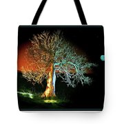 Tree And Moon Tote Bag