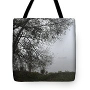 Tree And Moored Boat Tote Bag